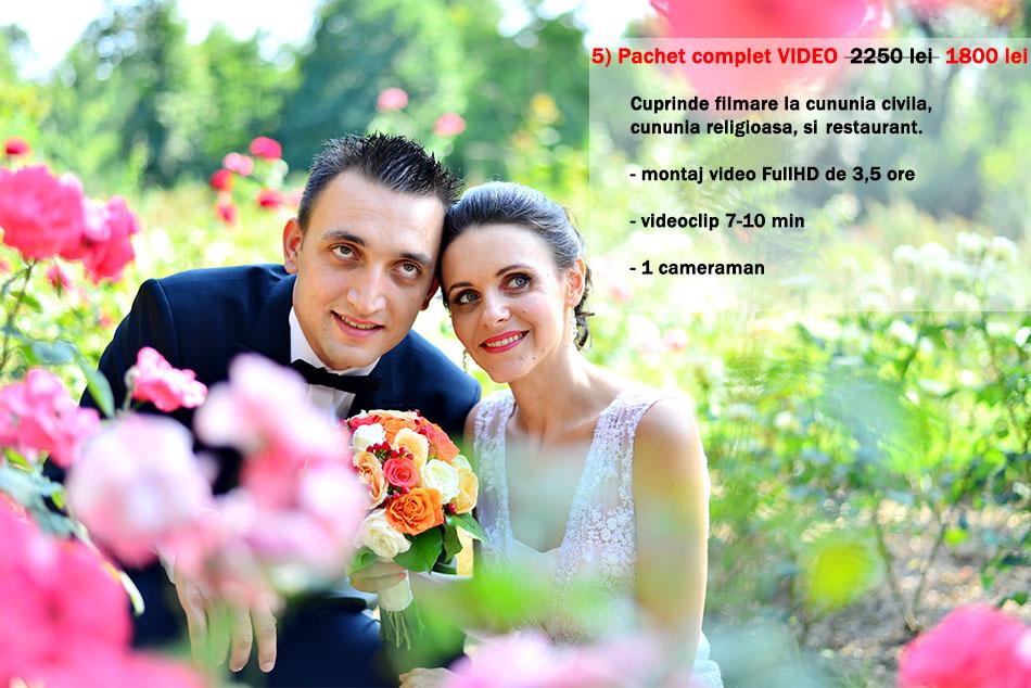 tarif filmare nunta
