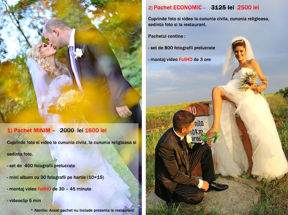 tarif foto video nunta